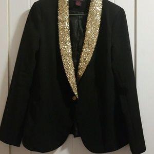 Sparkle collar blazer